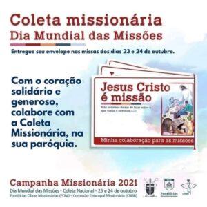 Coleta missionária será realizada neste final de semana