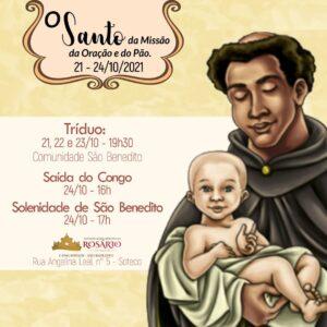 21 a 24 de outubro: Festa de São Benedito